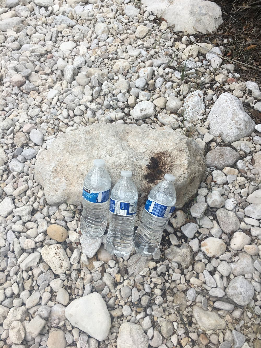 Holy moly, it's THREE FILLED water bottles!