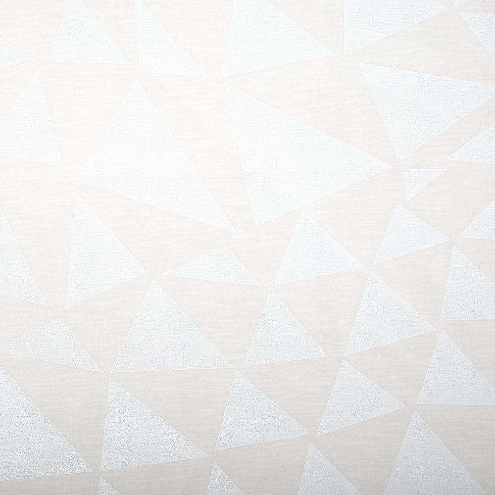 TRIANGLES | WHITE ON IVORY VELVET