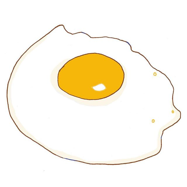 I've spotted a man today who has this tatooed on his forehead 😳 #friedegg #illustration #editorialillustration #foodillustration #theillustriousillustrator