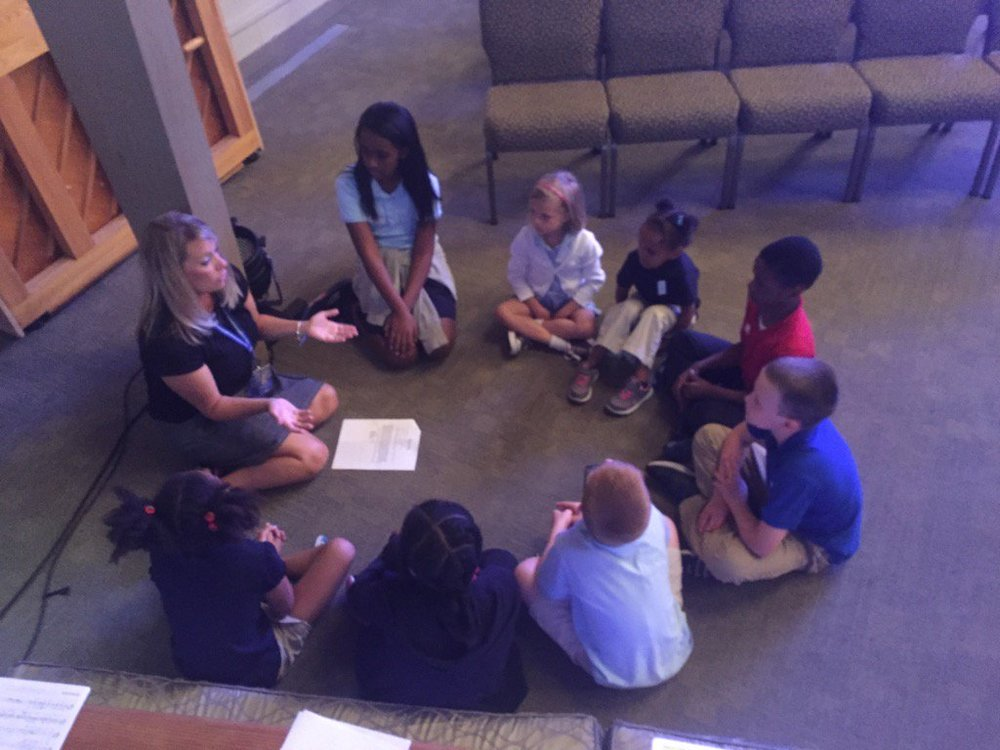 Small Groups - Students meet across grade levels to learn the value of service to others.