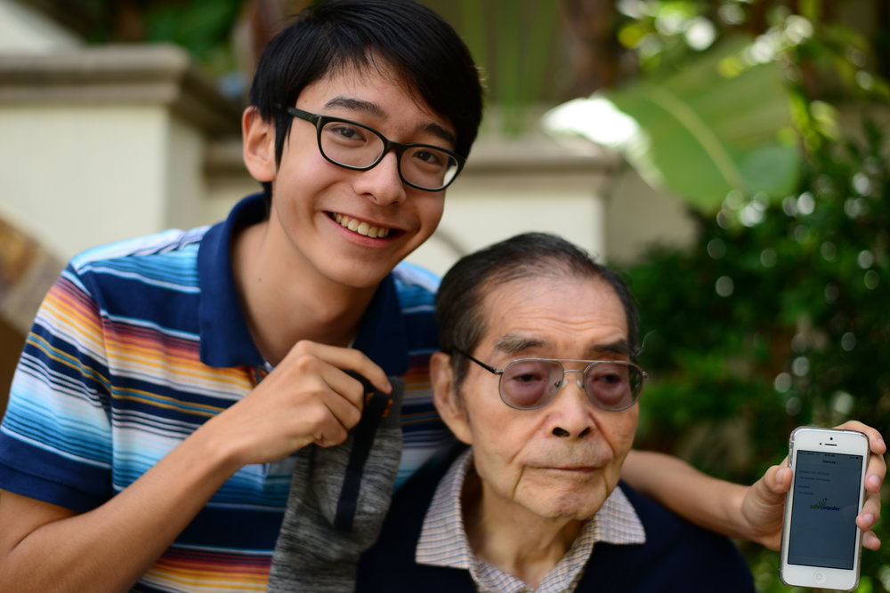 "Kenneth Shinozuka was six when a policeman brought his grandfather home, who'd been wandering the freeway in his pajamas. His grandfather had always been there for Kenneth, reading and singing to him and taking him for walks on the beach. Now his grandfather Deming Feng needed help. Getting lost wasn't the first sign he had Alzheimer's, but it was the most dramatic. Kenneth vowed to do everything he could to protect his beloved grandpa. In August, Kenneth, 16, received a $50,000 Scientific American magazine Science in Action Award for inventing a motion sensor that sends a signal to a caregiver's smart phone when a patient steps out of bed. One of the biggest rewards, Kenneth says, is that now his aunt Sophia Feng, his grandfather's primary caregiver, can sleep at night. And his grandfather is no longer wandering, a dangerous habit that can result in death, Kenneth says. There have been no slip-ups in the motion sensor for 15 months. He sometimes got discouraged when he was working on the motion sensor, but his family's struggles prodded him not to give up. ""The safety risks that wandering imposed on my grandfather definitely motivated me to continue working on the device even when I had hit a hard spot,"" Kenneth said in an interview with Not Impossible Now."
