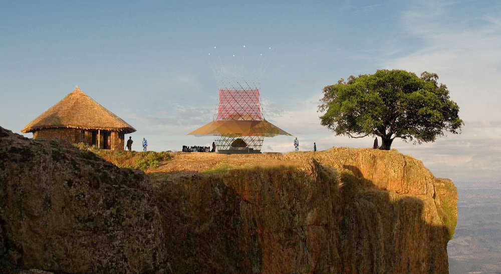 Architecture and Vision's Warka Water tower can harvest water from the air. They're asking for your support on Kickstarter to get one built in Ethiopia.