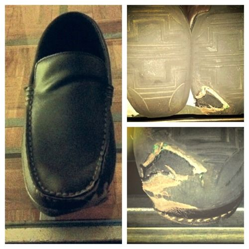 Destroyed loafers