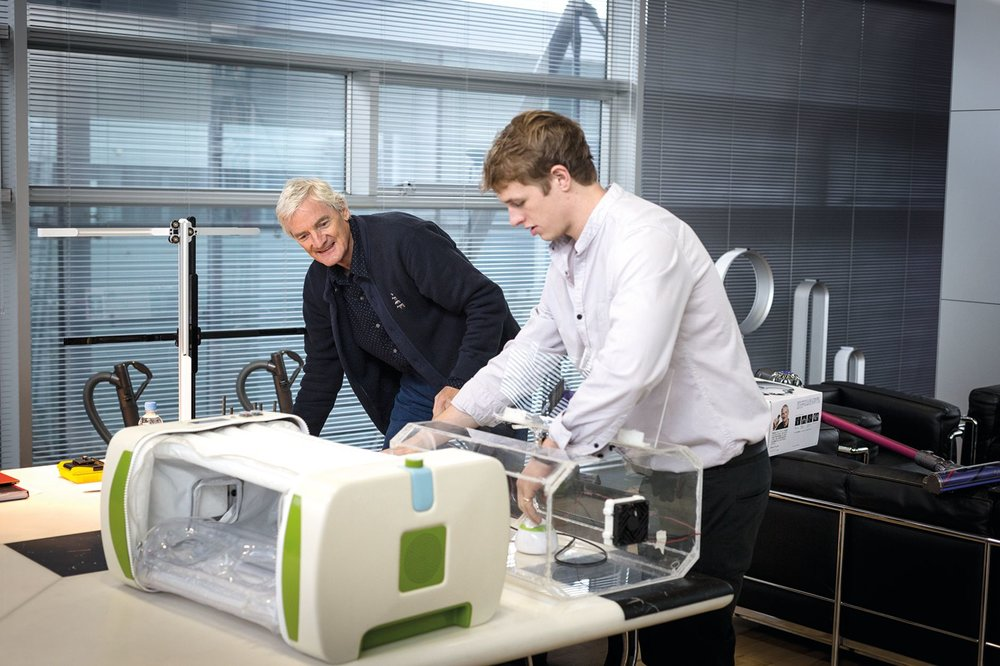 James Dyson, left, and James Roberts. (Photo courtesy of Dyson and James Roberts)