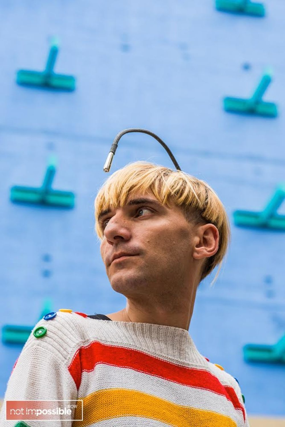 Neil Harbisson - photo by Scott McDermott for NotImpossibleNow.com
