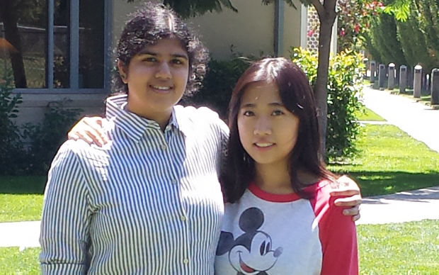 Sadhika Malladi, left, and Daniela Lee. (Photo courtesy of Daniela Lee)