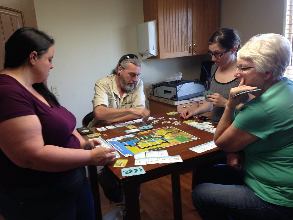 Playtesting the upcoming Feasts or Famine Game for FlatheadTech4Good