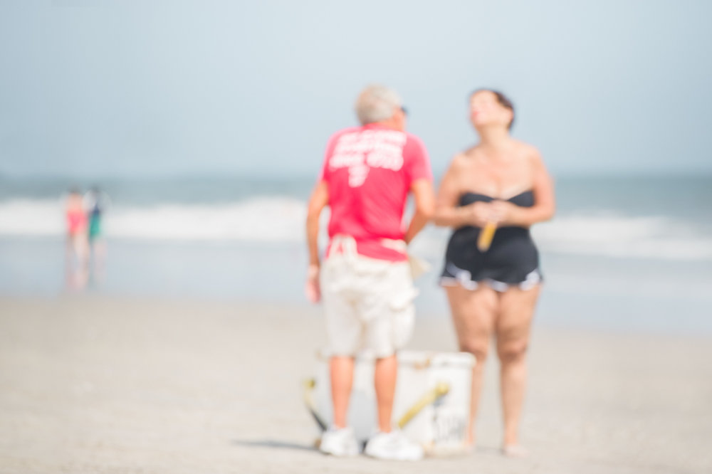 out of focus image, beach image along the Atlantic Ocean, love o