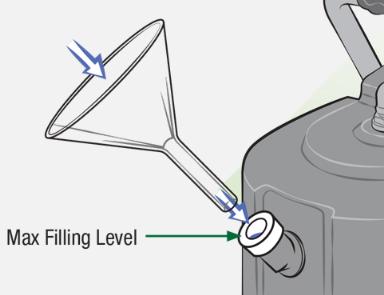 Fyll dampgeneratoren med vann