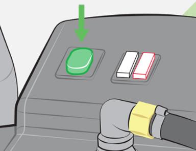 Trykk på den grønne av/på-knappen