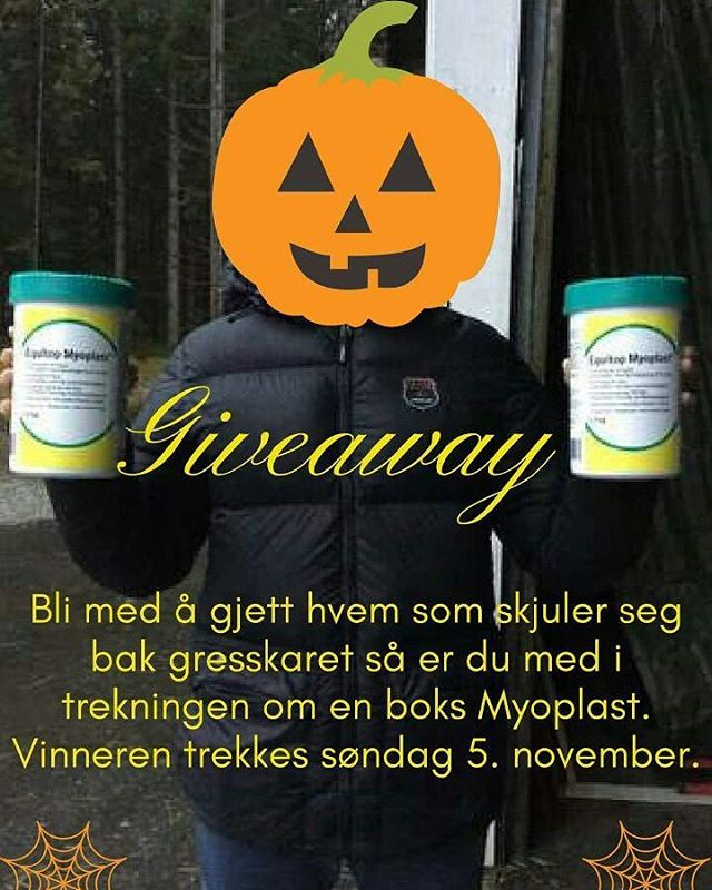 Who is hiding behind the pumpkin?? 😄🙈 Join our giveaway and you can win one box Equitop Myoplast😊👍 @boehringer_ingelheim  #boehringeringelheim#equitop#myoplast#healthyhorse#horsesofinstagram#instahorses#norway#norge