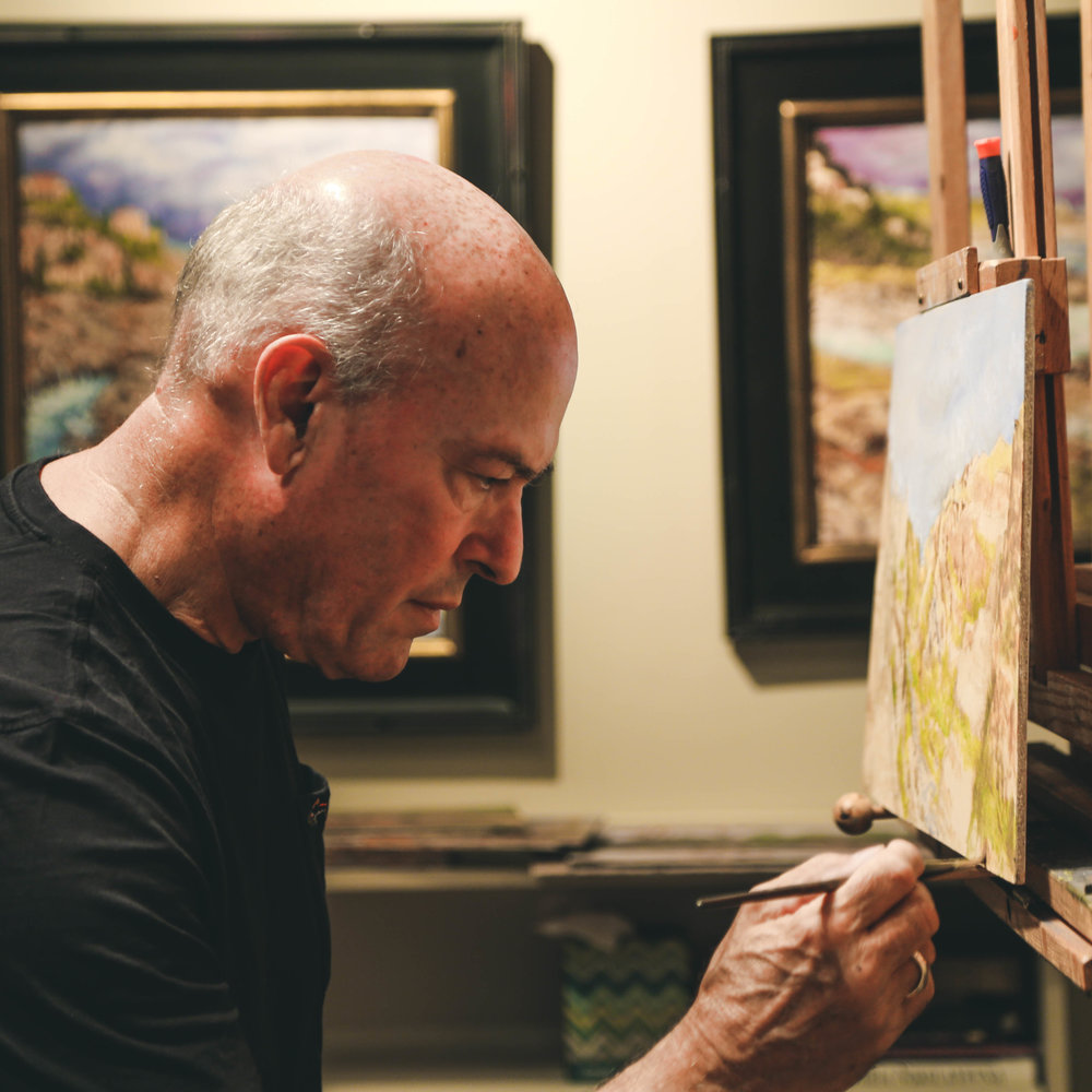 After a long business career, Nick corvinous has rediscovered his passion for art