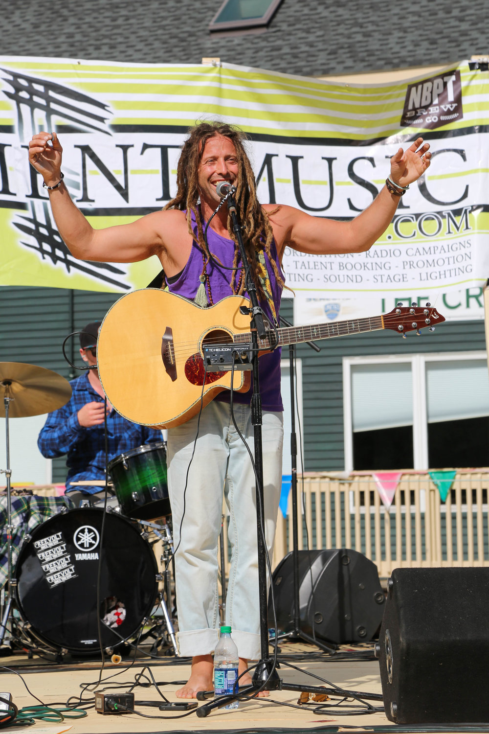 Michael Bernier is the host/Emcee at local events like the Green stride NBPT Half marathon. You might also see him playing alongside his Freevolt Bandmates at a local venue like the  nbpt Brewing company