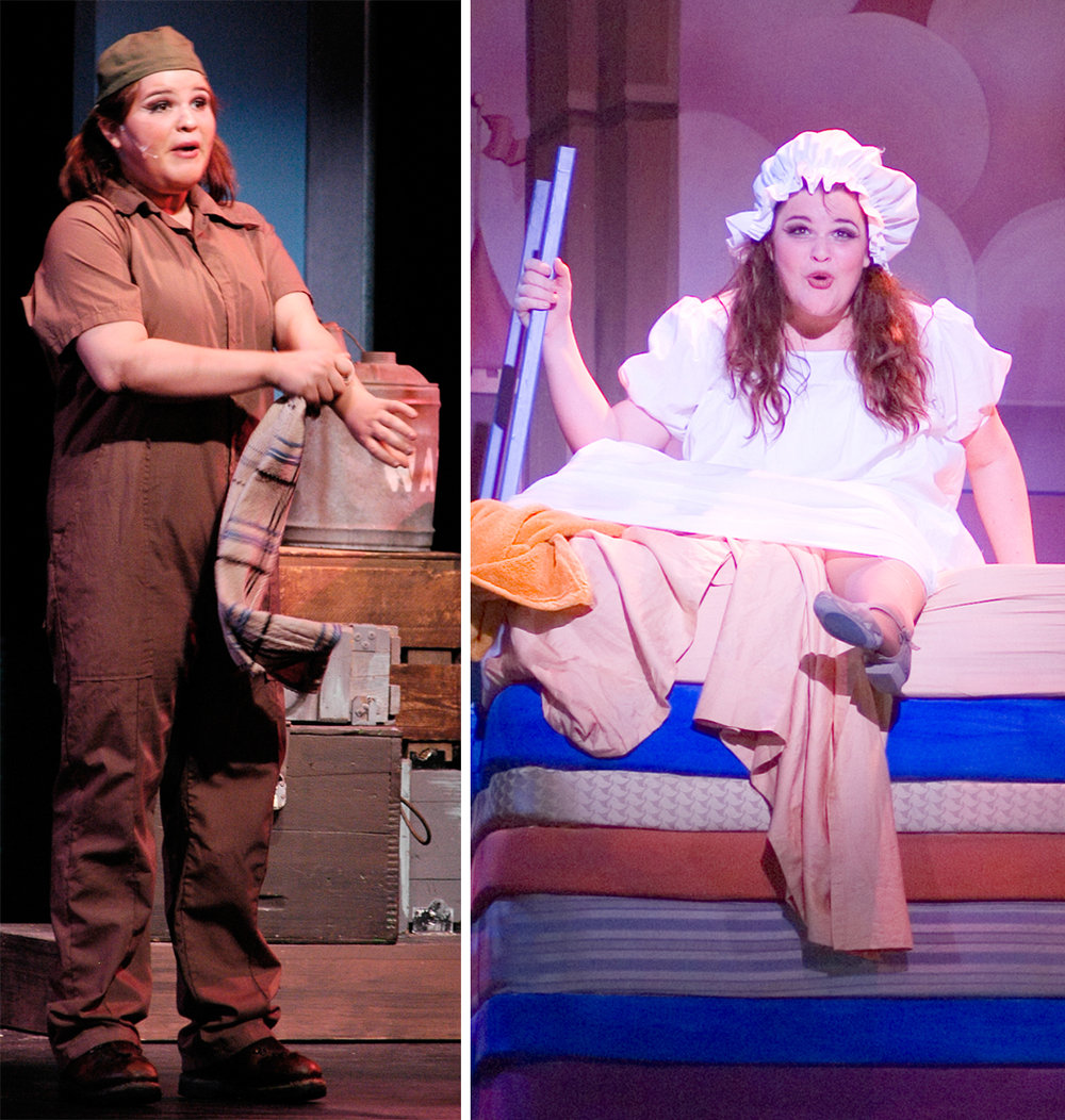 Annie performing during her time at OU in MY ONE AND ONLY and ONCE UPON A MATTRESS.