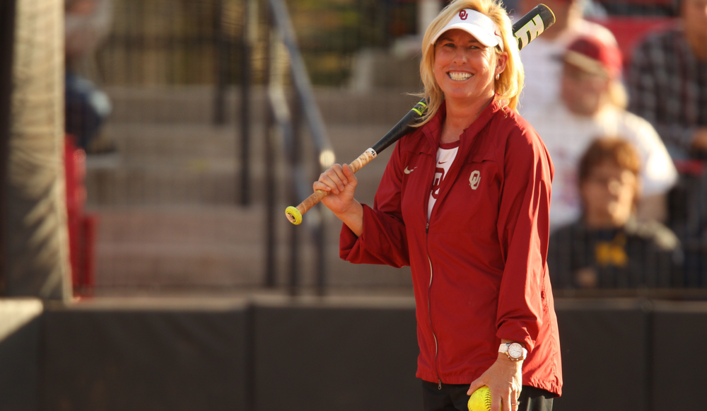 Sooner softball coach Patty Gasso is in her 25th year as head coach of the Sooners, who have won four national titles under Gasso, and are one of only three schools in the country with more than two national championship trophies.