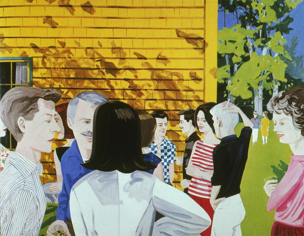 Lawn Party (1965). Oil on Canvas, 108x144 inches. Collection of the artist.