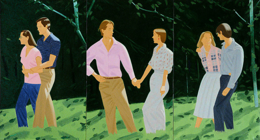 Summer Triptych (1985). Oil on canvas, each panel 78x48 inches, overall 78x144 inches. The Saatchi Collection, London.