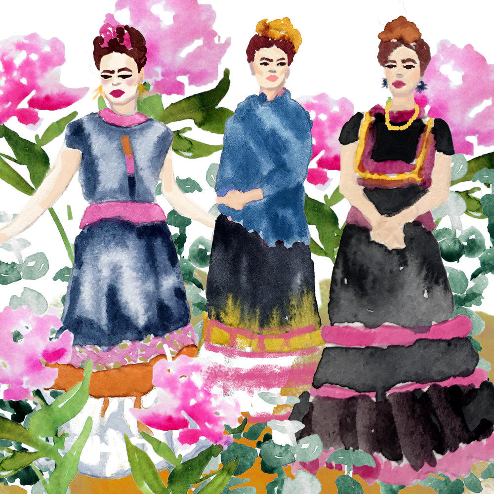 Frida in her Garden  by  Carly Martin .