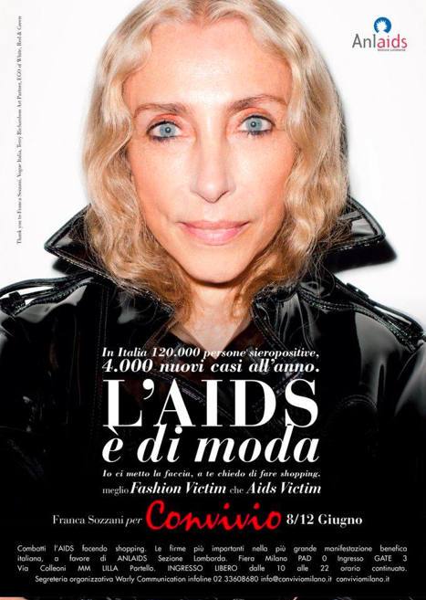 "Franca Sozzani in ""L'Aids é di Moda"" campaign, Terry Richardson, 2016. Reproduced with permission from Convivio."