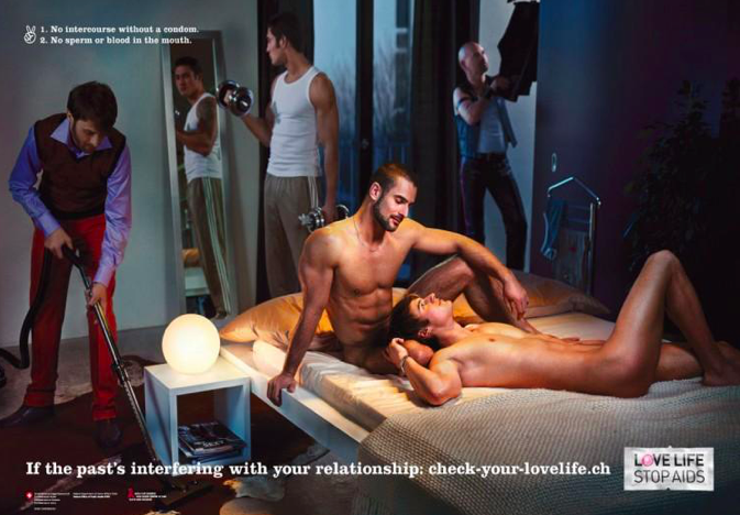 """Check Your Love Life"" campaign, Anoush Abrar & Aimée Hoving , 2007. Reproduced with permission from Love Life."
