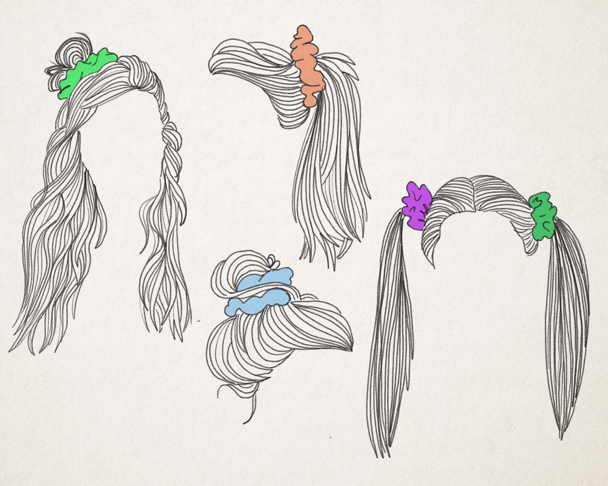 The Scrunchie  An Icon of Bad Taste Turned Ironic — The Fashion ... 91a9b9488c4