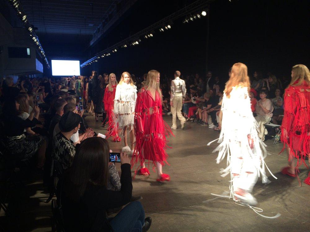 'Näytös', the annual fashion show of Aalto ARTS (May 2016). Photo courtesy the authors.