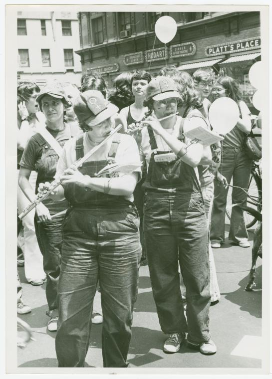 Christopher Street Liberation Day, 1972. Image courtesy the New York Public Library Digital Archives and Manuscripts. The reuse of this image has been permitted by the library's efforts to release more of its collections into the public domain.