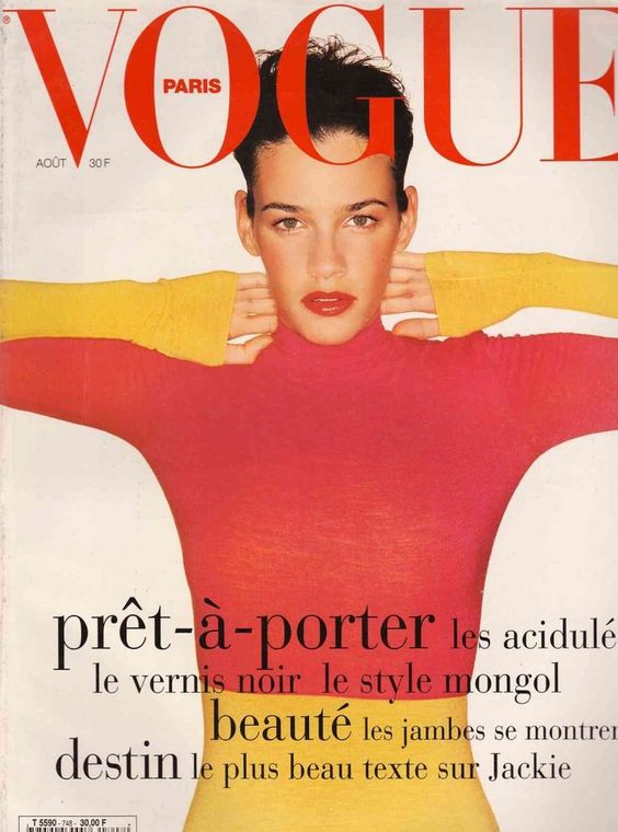 Vogue Paris  (August 1994). Buck's tenure spanned he years 1994-2001. Image via  Pinterest .