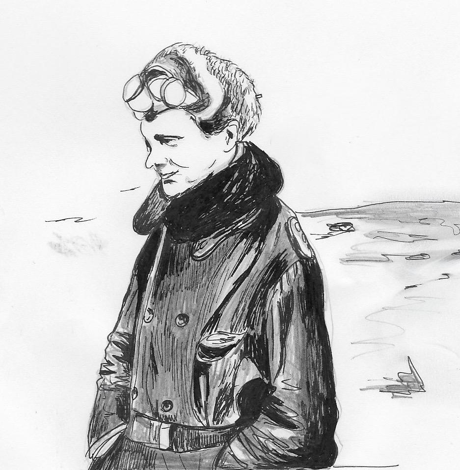 Manfred von Richthofen. Illustration by Catharina Russ.