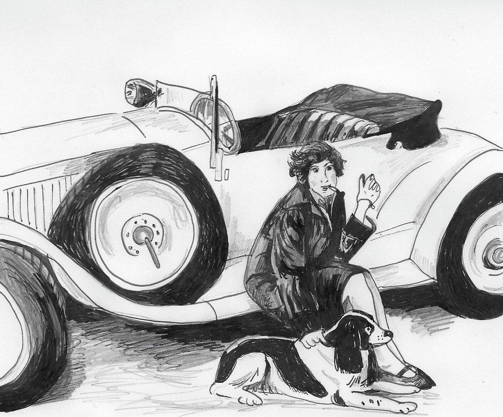 Girl driver, Ruth Landshoff-Yorck.