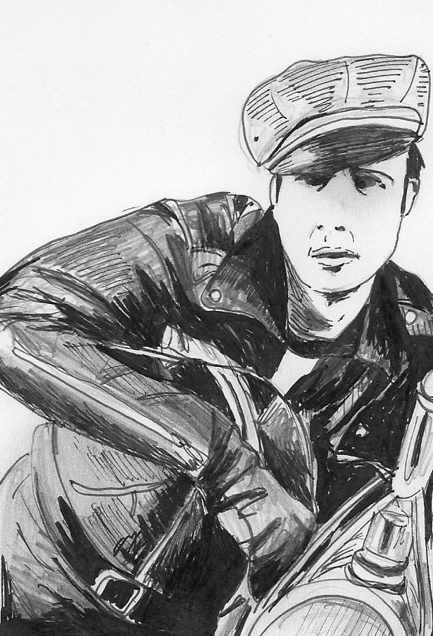 Marlon Brando. Illustration by Catharina Russ.