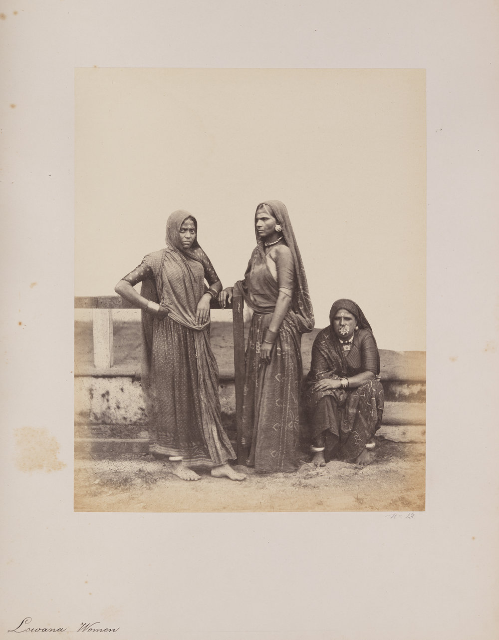 """Lowana Women"" by William Johnson from  Photographs of Western India. Volume I. Costumes and Characters  (1855-1862). Image from  Wikimedia Commons  courtesy Southern Methodist University, Central University Libraries, DeGolyer Library,"