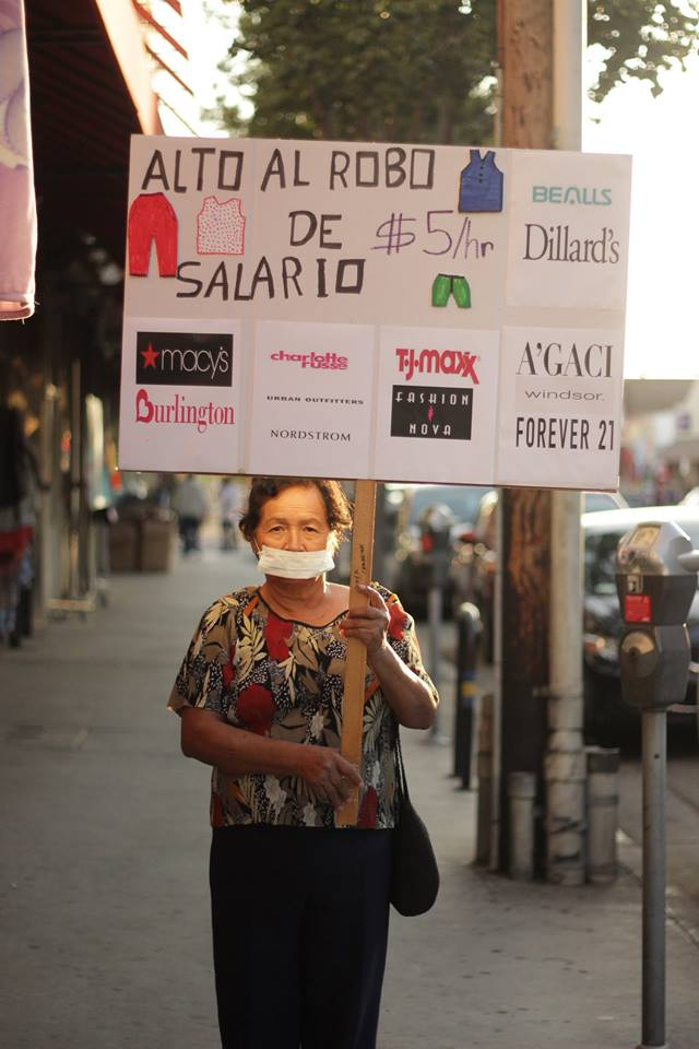 """""""Stop The Wage Theft,"""" Photo courtesy Garment Worker Center"""