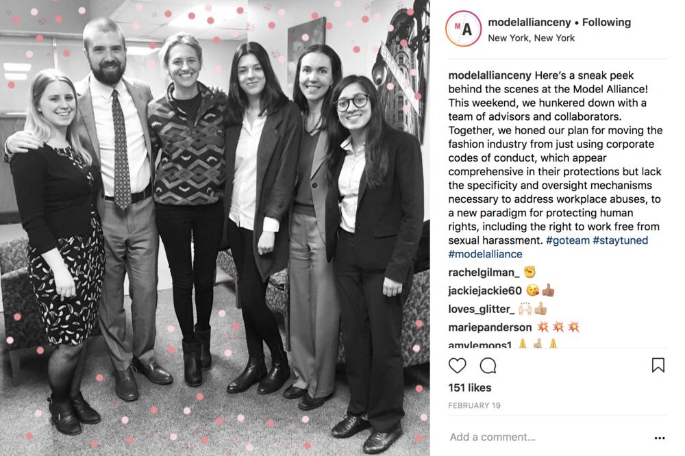 From the Model Alliance Instagram, @modelallianceny