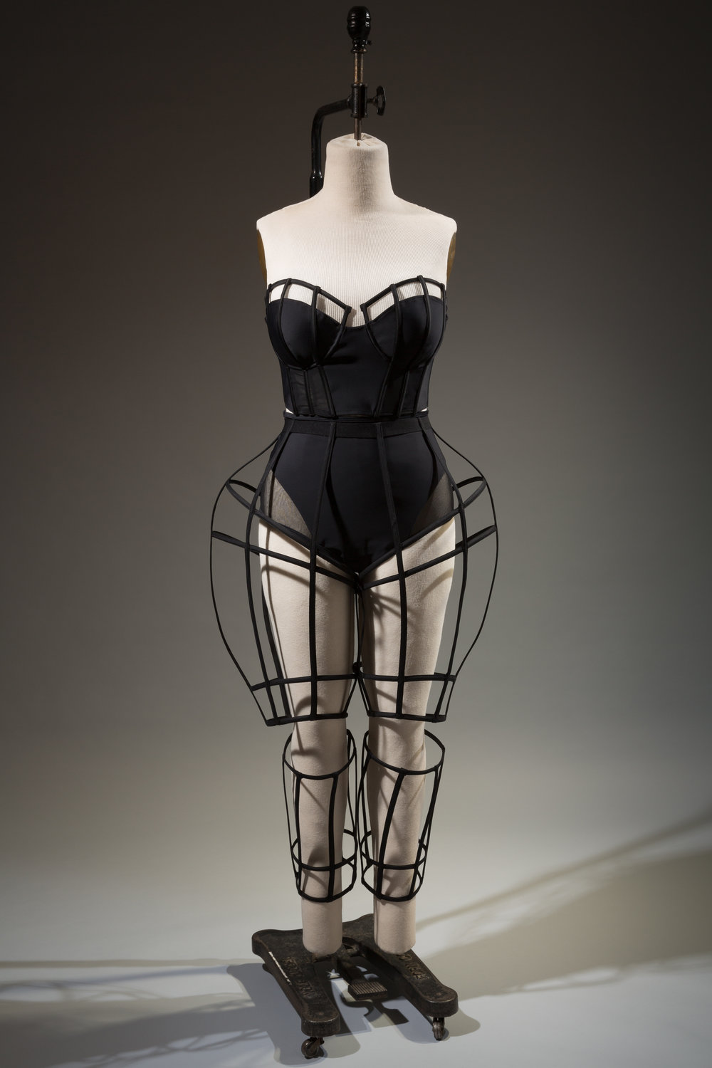 Chromat, ensemble, spandex and plastic boning, spring 2015, USA, museum purchase. Photograph courtesy The Museum at FIT.