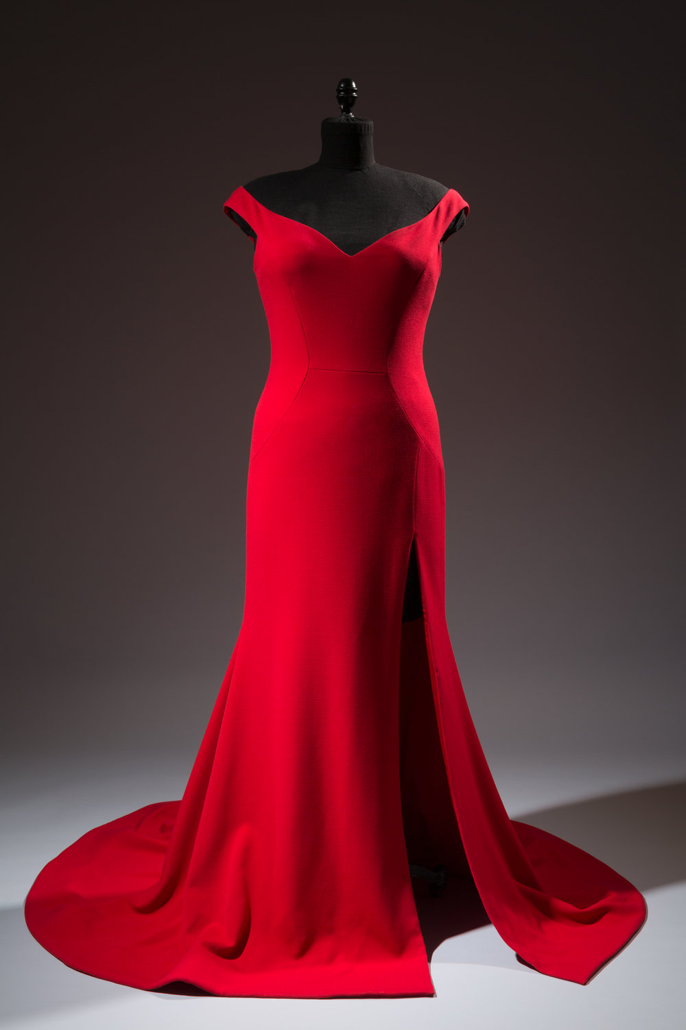 Christian Siriano, custom dress for actress Leslie Jones, faille crepe, 2016, USA, Gift of Christian Siriano. Photograph courtesy The Museum at FIT.