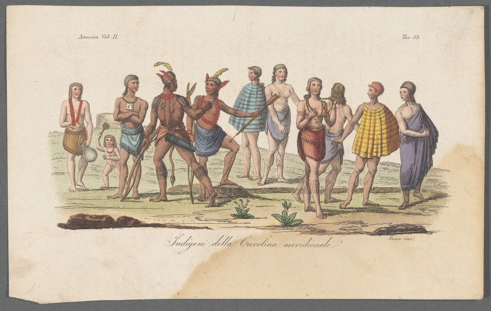 "A keyword search for the word ""garb"" in the New York Public Library's Digital collections yields this image, among others. ""Folk and Ethnic Costumes"" from Gleason's Pictorial Drawing-Room Companion, 1837. Vieillard-Duverger, Louis-Camille-Eugène (Artist); Choubard, fl. ca. 1810-1830 (Engraver). NYPL catalog ID (B-number):  b19763081 ."