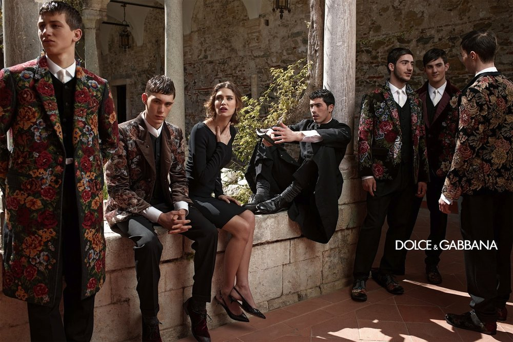 Advertisement for Dolce & Gabbana's Fall/Winter 2014 campaign. Image via Dolce & Gabbana.