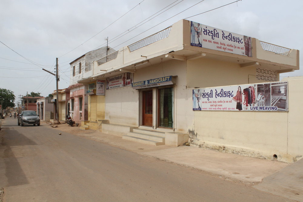 A main street in Bhujodi, a major textile center in the Kutch District of Gujarat, India. Photo: Ruth Clifford