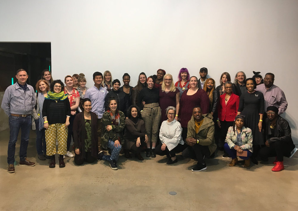 "Attendees of the ""Fashion & Justice"" workshop at The Contemporary Austin, February 2018.   Photo: Kimberly Jenkins"