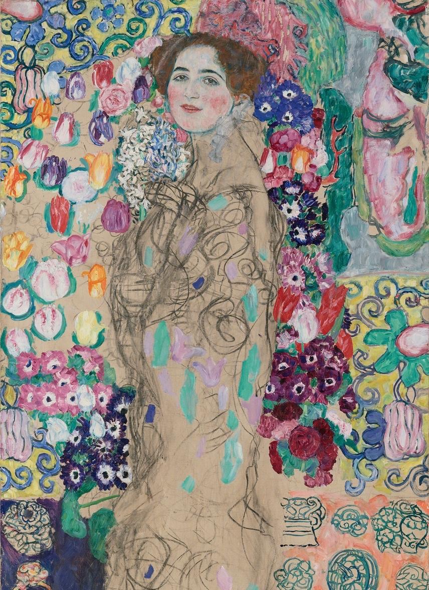 Gustav Klimt,  Posthumous Portrait of Ria Munk . Image via The Met Breuer.