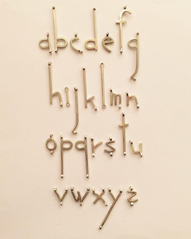 make a statement/write your own jewelry! Handmade alphabet @db_jewelry_designs
