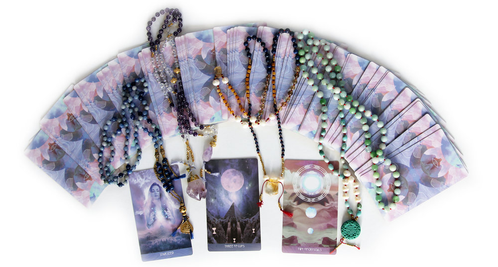 To order a custom, handmade with love, mala just for you   contact me   to set up a consultation. Consultations are by phone or skype. We will talk about your intentions, hopes, dreams, and desires. I may guide you through a visualization meditation, we may use the tarot for deeper insight, we will definitely connect and discover what crystal friends what to be of service to you