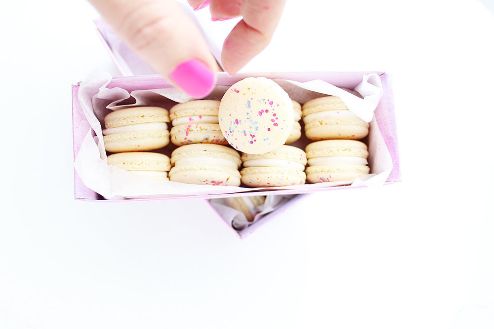 Natural Color Macarons | $36/Dozen  2 Dozen Minimum  *Can Mix & Match any 2 styles of Macarons