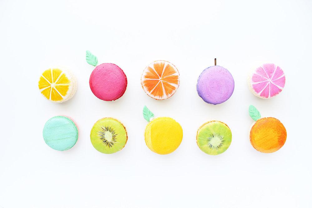 Macarons Line Art - $60-$75/Dozen