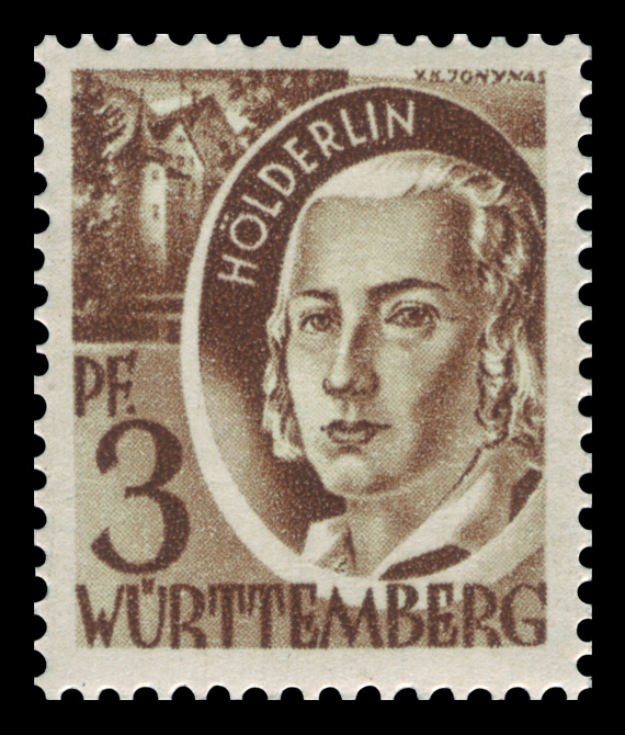 Friedrich Hölderlin Stamps it, Baby