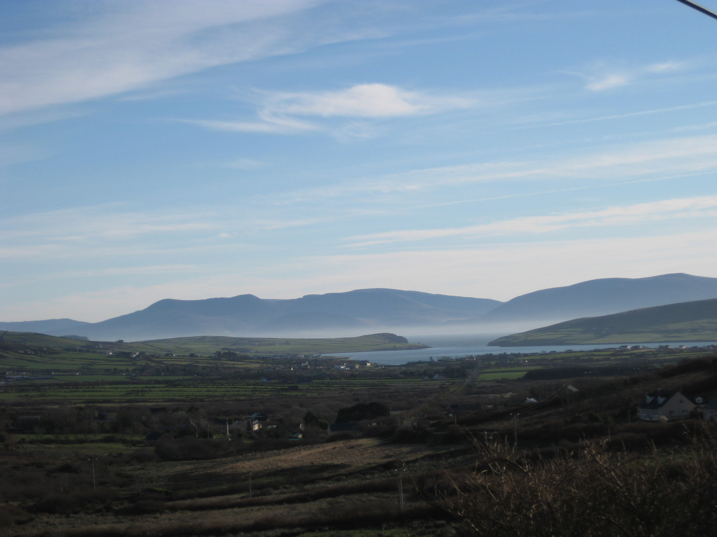 View of Dingle Bay from an Bóthar Fada (the long road)