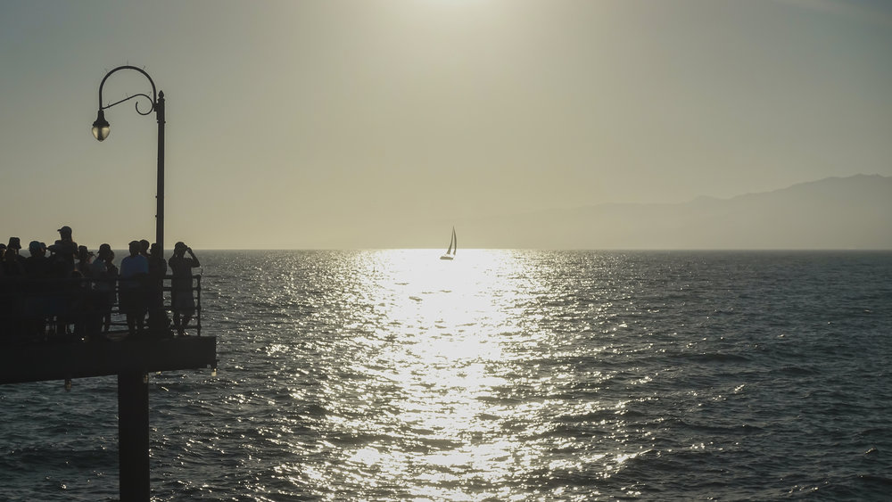 Santa Monica Pier - Sailboat