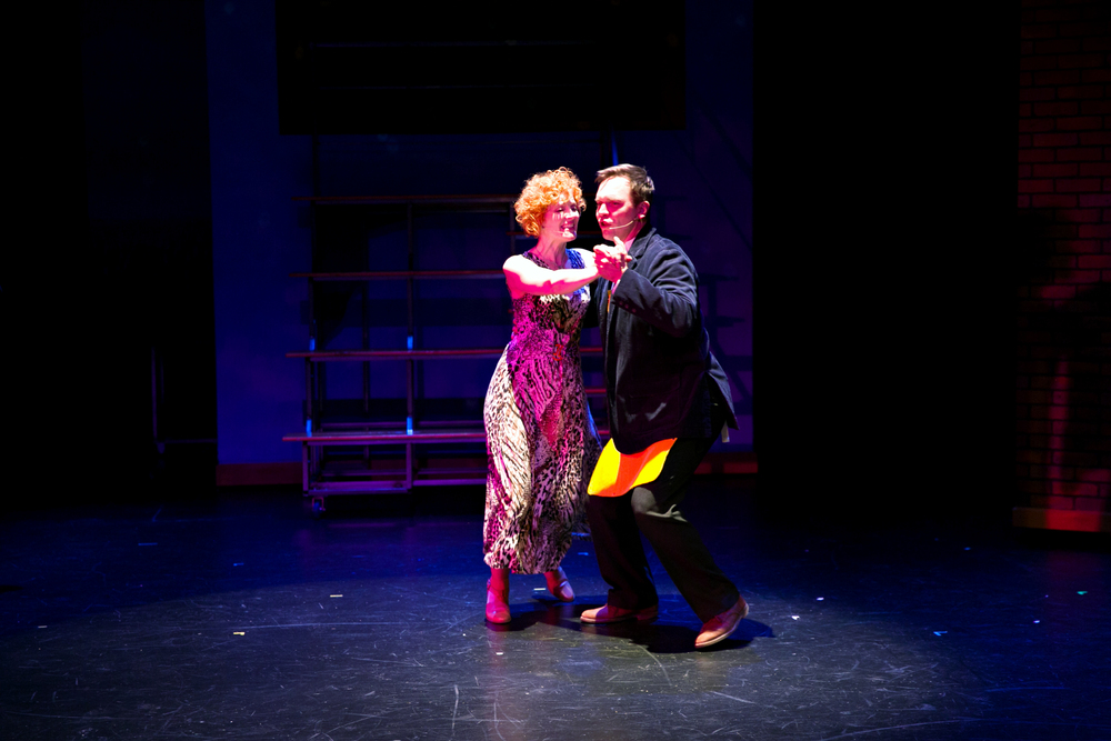 Norah Long and Dieter Bierbrauer in A Night in Olympus by Chan Poling and Jeffrey Hatcher
