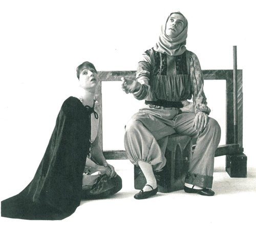 Bonnie Morris and Michael Robins in Illusion's adaptation of Virginia Woolf's novel  Orlando  in 1977.